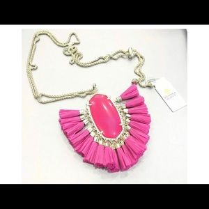 Kendra Scott Betsy Gold Pink Agate Necklace